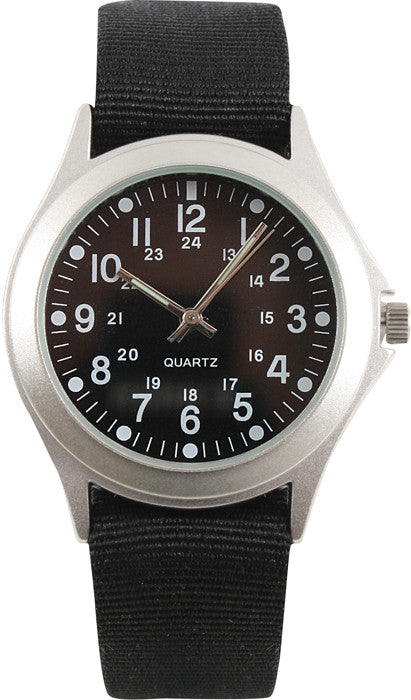 Black - Quartz Military Style Watch