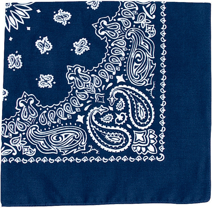 Navy Blue - Trainmen Jumbo Bandana 27 in. x 27 in.