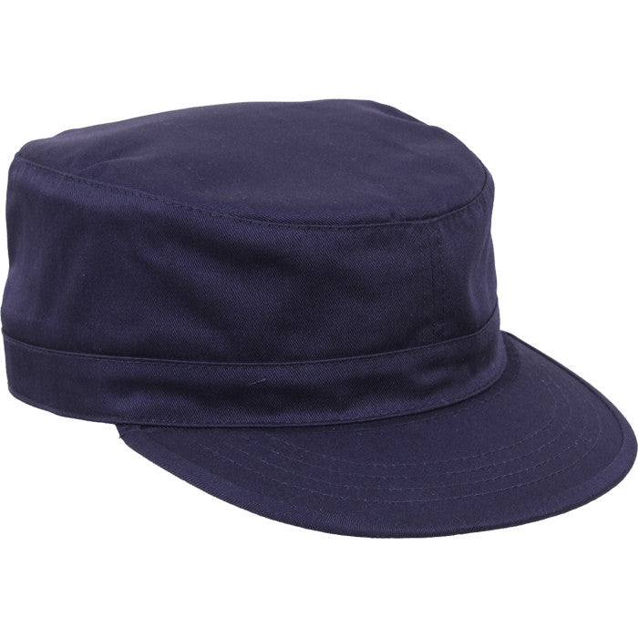 Navy Blue - Adjustable Military Fatigue Cap - Polyester Cotton