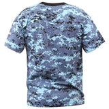 Digital Sky Blue Camouflage - Military T-Shirt