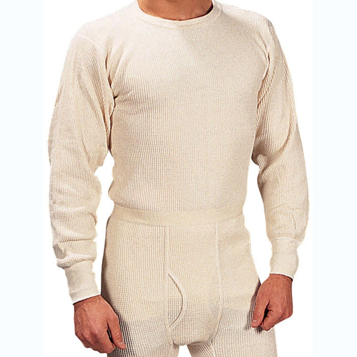 White - Extra Heavyweight Cold Weather Thermal Knit Underwear Shirt