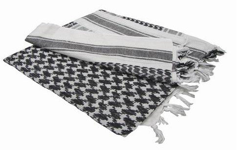 White   Black - Shemagh Tactical Desert Scarf
