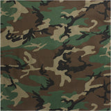 Woodland Camouflage - Military Bandana 22 in. x 22 in.