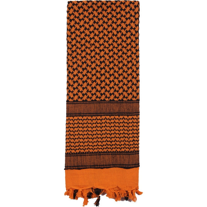 Orange   Black - Shemagh Tactical Desert Scarf