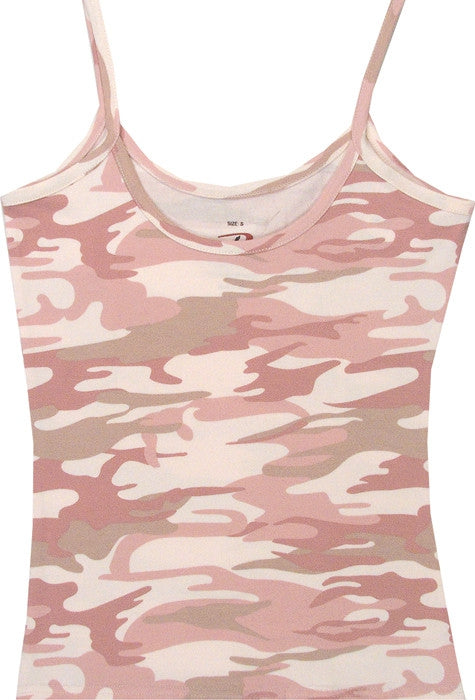 Baby Pink Camouflage - Womens Slim-Fit Tank Top