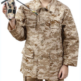 Digital Desert Camouflage - Kids Military BDU Shirt