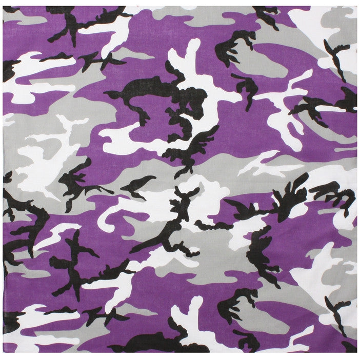 Ultra Violet Camouflage - Military Jumbo Bandana 27 in. x 27 in.