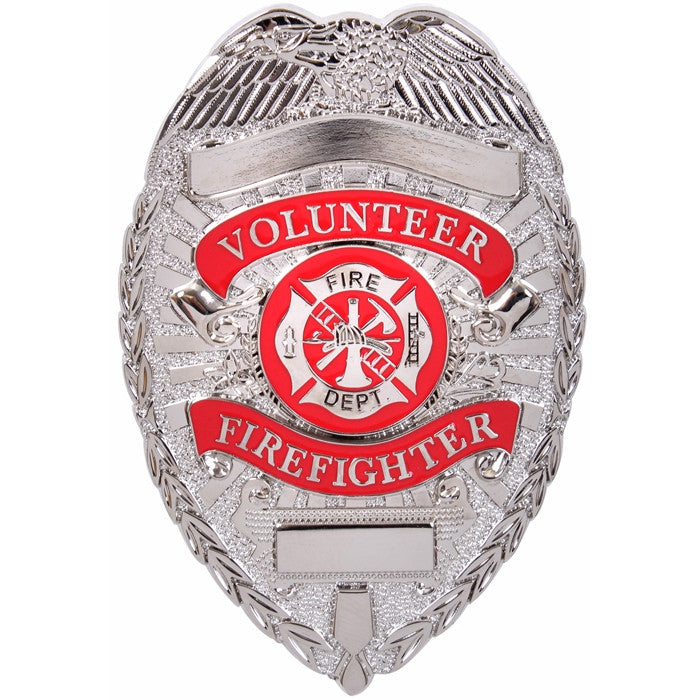 Silver - Volunteer Fire Department Badge