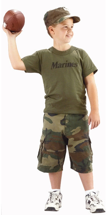 Olive Drab - Kids MARINES Physical Training T-Shirt