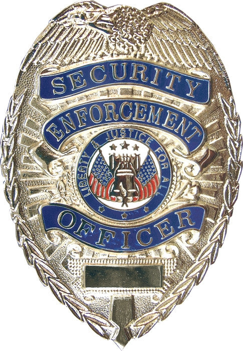 Deluxe Silver - Public Safety SECURITY ENFOREMENT OFFICER Badge