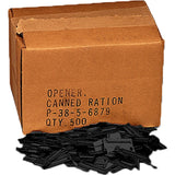 Black - Army P-38 Can Openers - 500 Pack