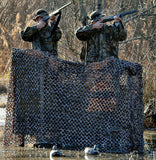 Green Brown - Military GI Style Camo Netting Medium Size 9'10 in. x 9'10 in.