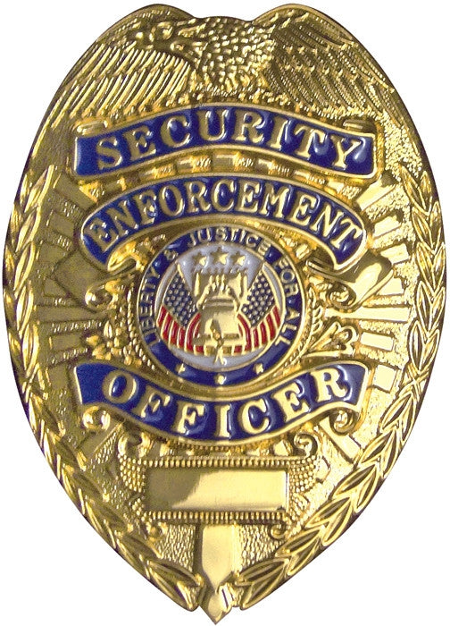 Deluxe Gold - Public Safety SECURITY ENFOREMENT OFFICER Badge