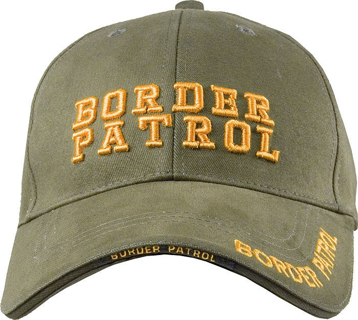 Olive Drab - BORDER PATROL Deluxe Adjustable Cap with Gold Lettering
