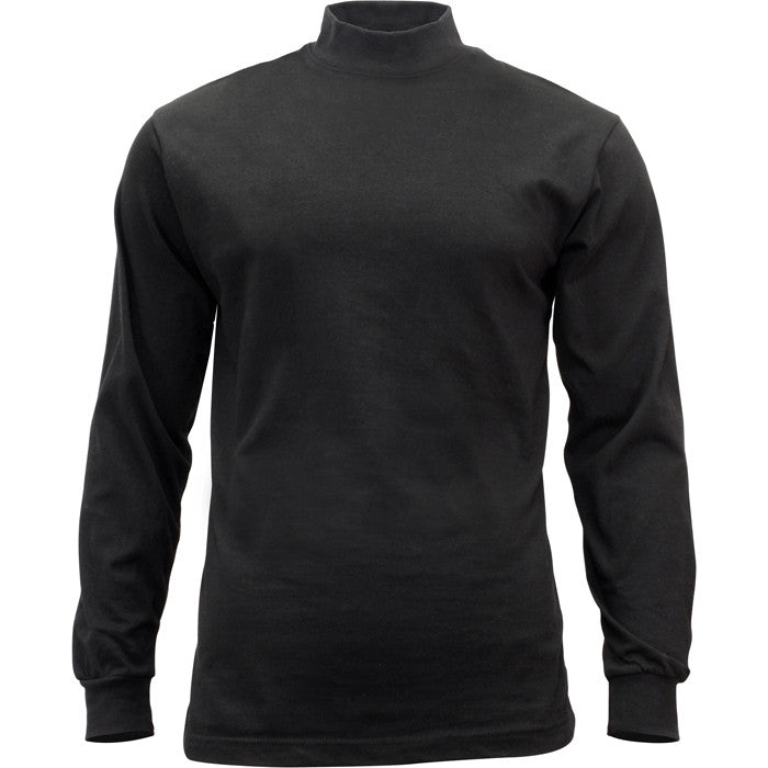 Black - Mock Turtleneck Sweater