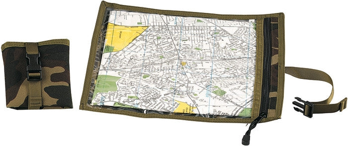 Woodland Camouflage - Military GI Style Waterproof Map Document Case