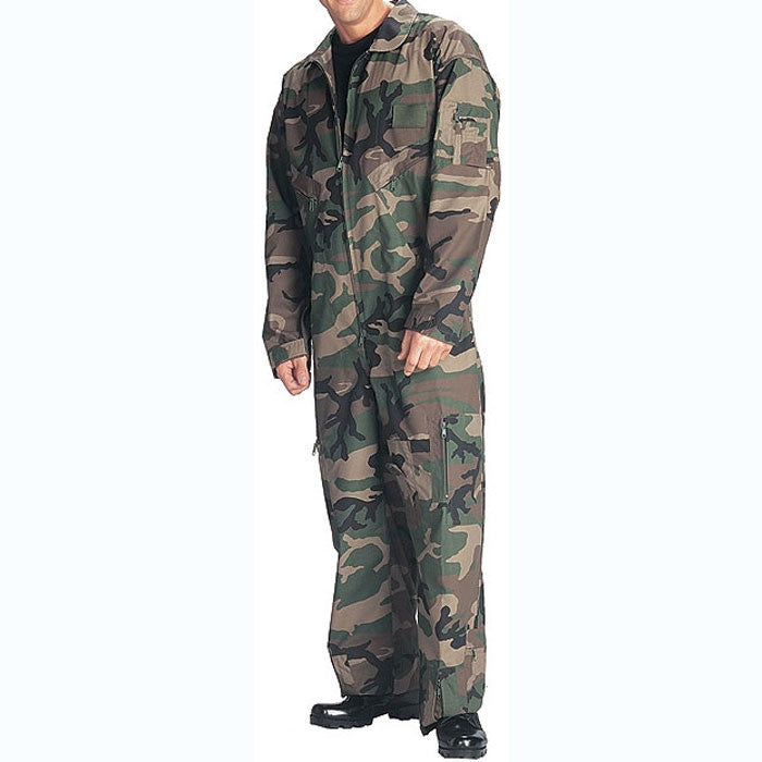13d495ab2c724 Woodland Camouflage - US Air Force Style Flight Suit - Army Navy Store