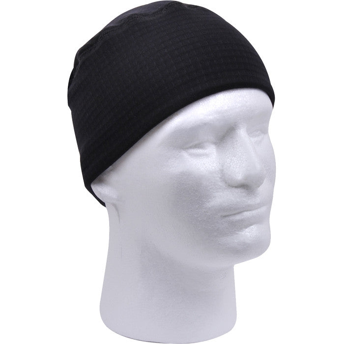 Black - Grid Fleece Watch Cap