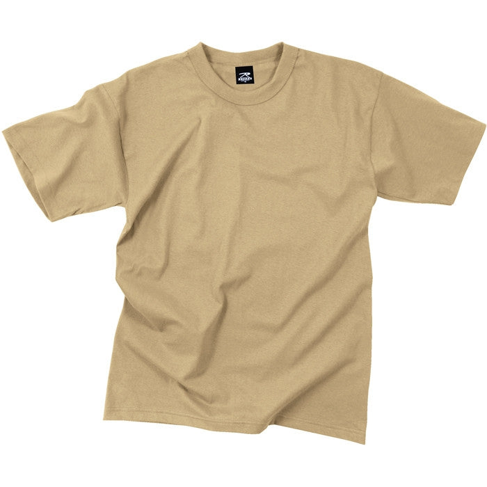 Khaki - Military GI Type Short Sleeve T-Shirt - Polyester Cotton
