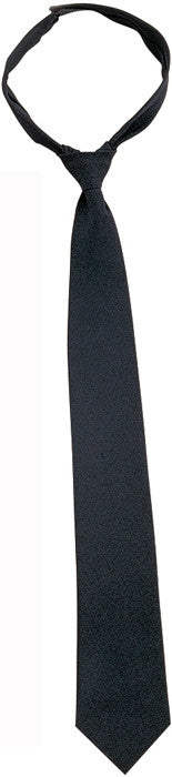 Black - Official Police Issue   Security Velcro Necktie - 20 in.
