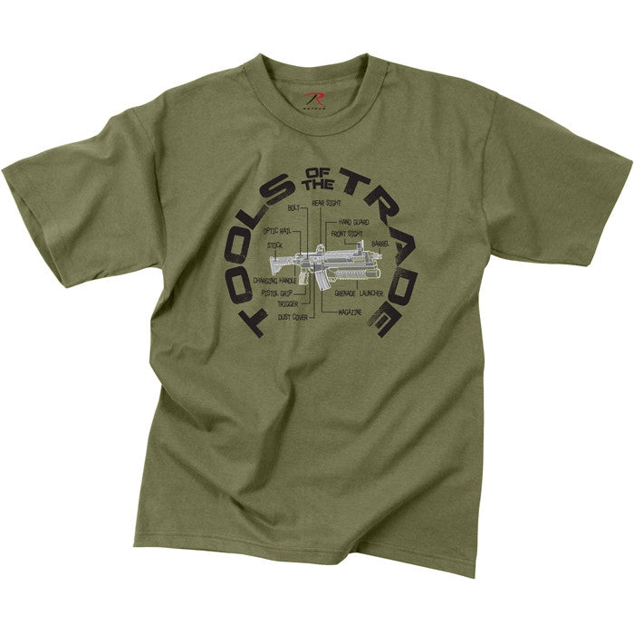 Olive Drab - Vintage Military TOOLS OF THE TRADE T-Shirt