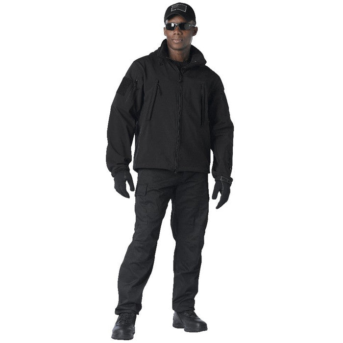 Black - Tactical Special Operations Soft Shell Jacket