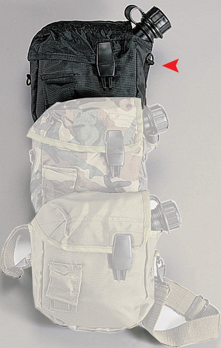 Black - Military GI Style 2 Quart Bladder Canteen Cover