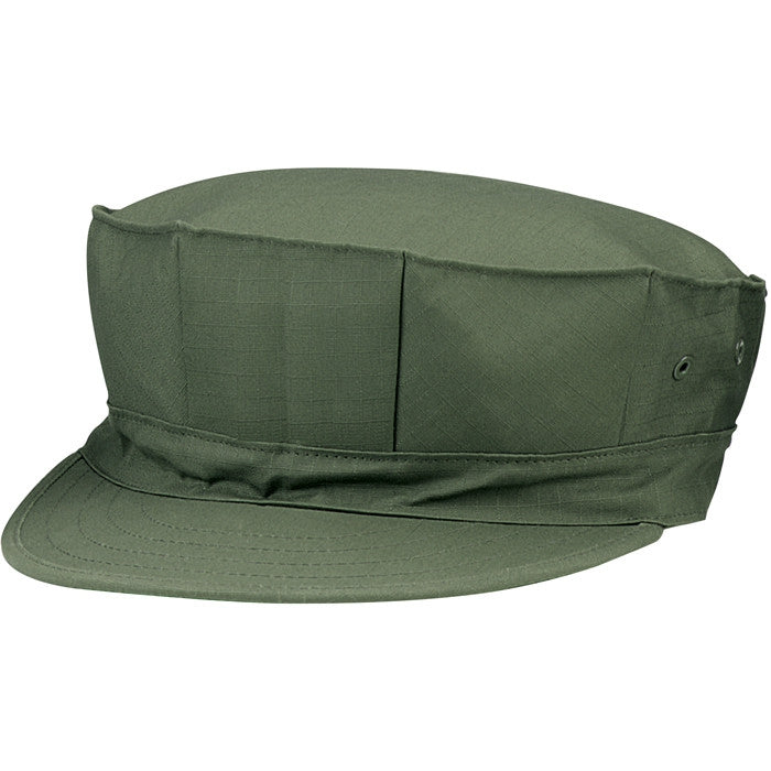 Olive Drab - Marine Corps Fatigue Cap Utility Cover 8 Pointed Cap - Polyester Cotton