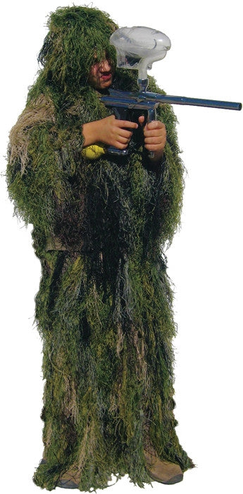 Woodland Camouflage - Kids Bushrag Ultralight Ghillie Suit