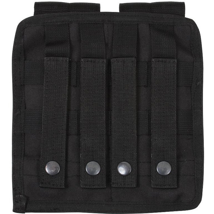 Black - Tactical MOLLE Dual Universal Rifle Mag Pouch
