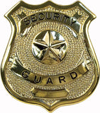 Gold - SECURITY GUARD Pin-On Badge