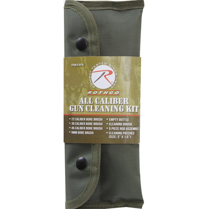 Olive Drab - Tactical MOLLE All Caliber Gun Cleaning Kit