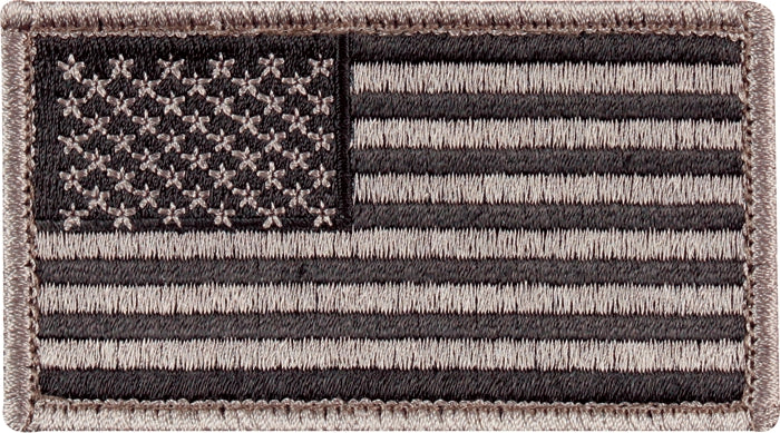 Foliage Green - US Flag Patch with Hook and Loop Closure