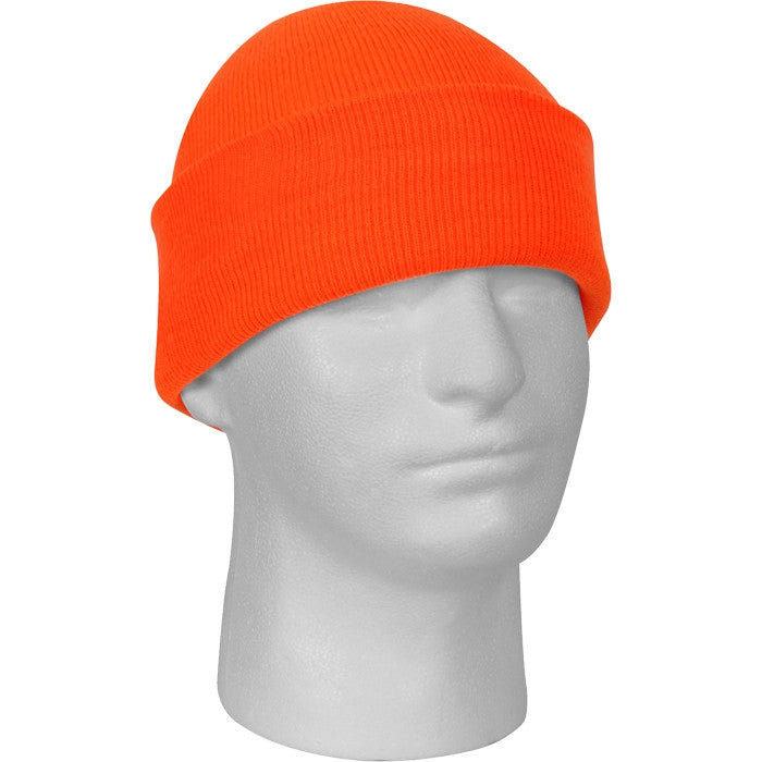 Safety Orange - High Visibility Military Watch Cap (Acrylic)