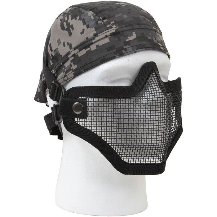 Bravo TacGear Black - Tactical Lightweight Strike Steel Half Mask