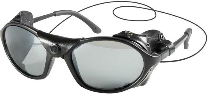 Black - Tactical Wind Guard Sunglasses - Black Lenses