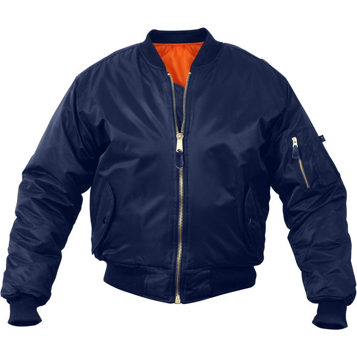 Navy Blue - Air Force MA-1 Bomber Flight Jacket