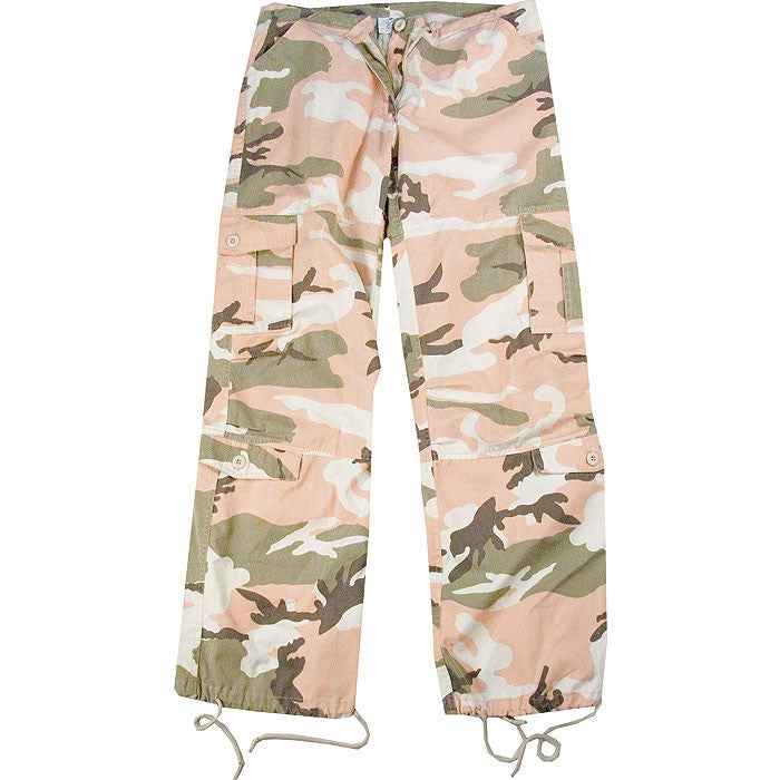 Subdued Pink Camouflage - Womens Vintage Paratrooper Fatigues