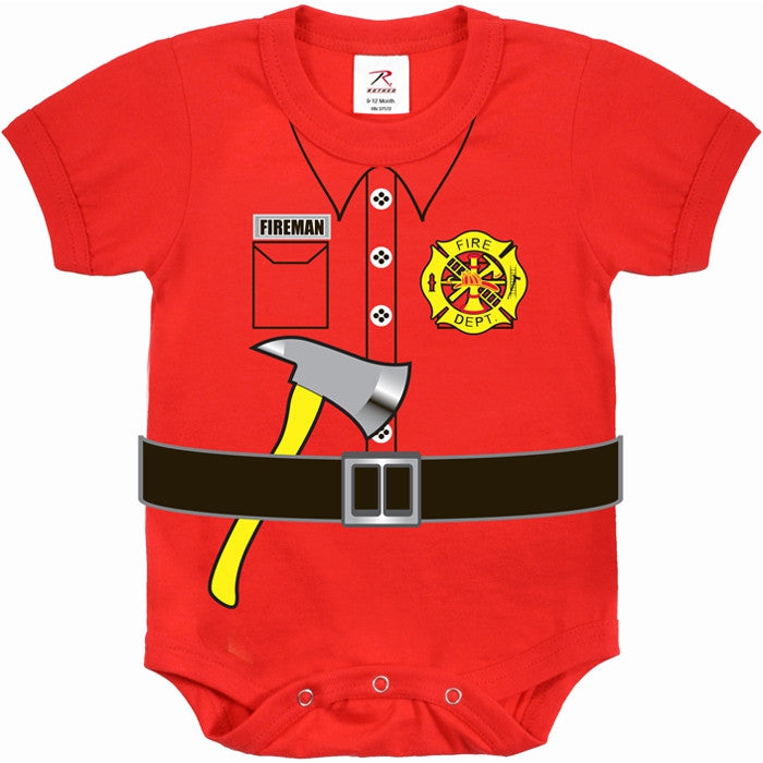 Red - Fireman Uniform Style Onesie