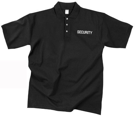Black - SECURITY Moisture Wicking Golf Shirt