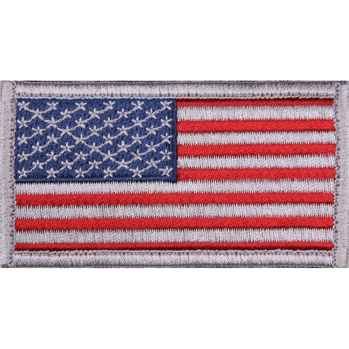 Red/White/Blue - US Flag Patch with Hook and Loop Closure