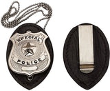 Black - Law Enforcement Clip On Badge Holder