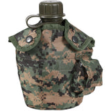 Digital Woodland Camouflage - Military Style 1 Quart Canteen Cover