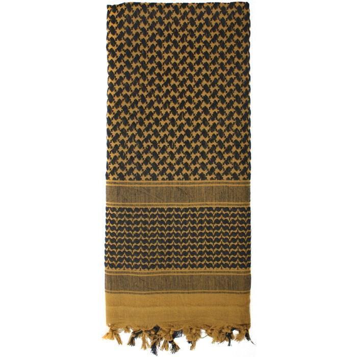 Coyote   Black - Shemagh Tactical Desert Scarf