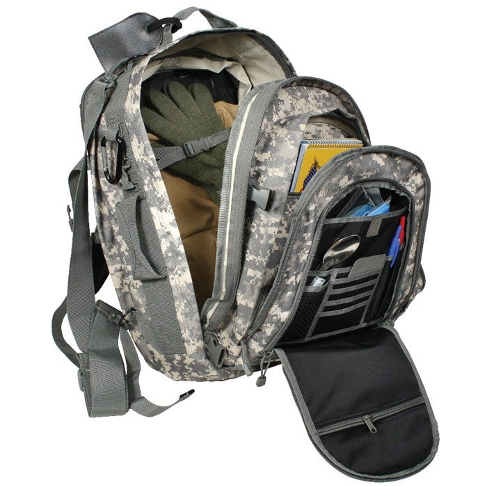 ACU Digital Camouflage - Military MOLLE Compatible Travel BackPack with Shoulder Straps