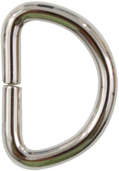 Silver - Non Welded D Rings 3 4 in. - 25 Pack