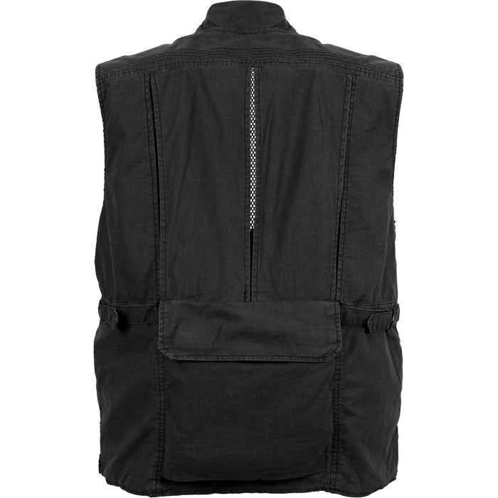Black - Deluxe Safari Outback   Photo Journalists Vest