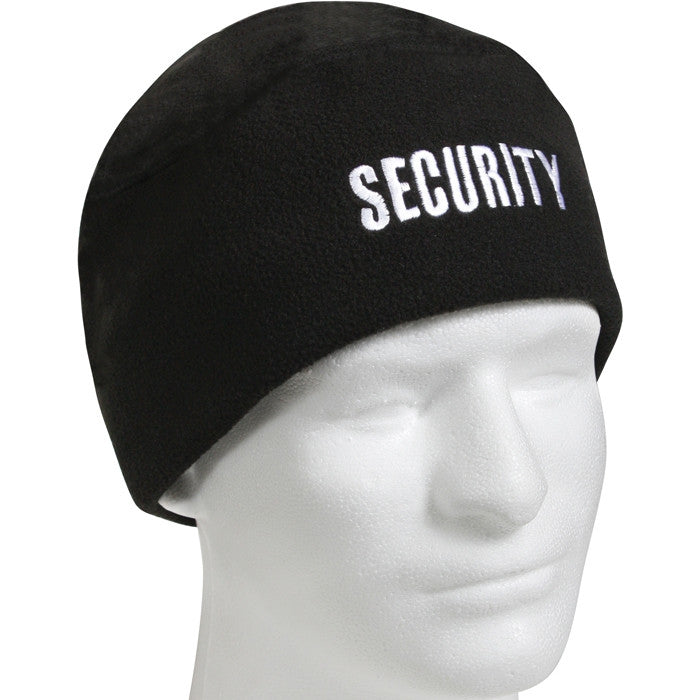 Black - SECURITY Polar Fleece Watch Cap