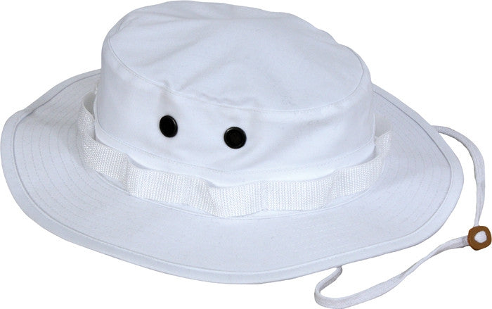 White - Military Boonie Hat - Cotton Polyester