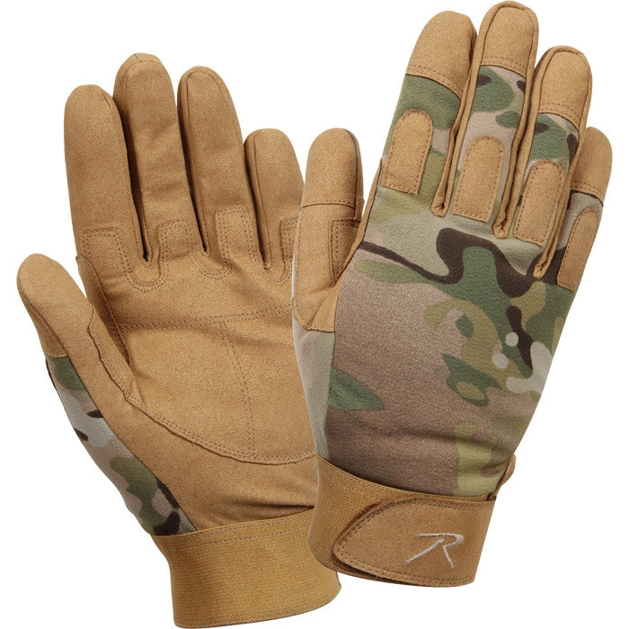 Multicam Camouflage - Lightweight All Purpose Tactical Duty Gloves